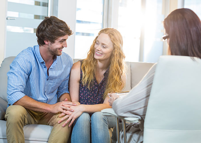 A couple undergoing couples therapy with a psychiatrist at Brisbane Specialist Suites.